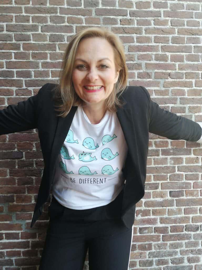 Anne Howanietz lachen Storytelling-Guide danke